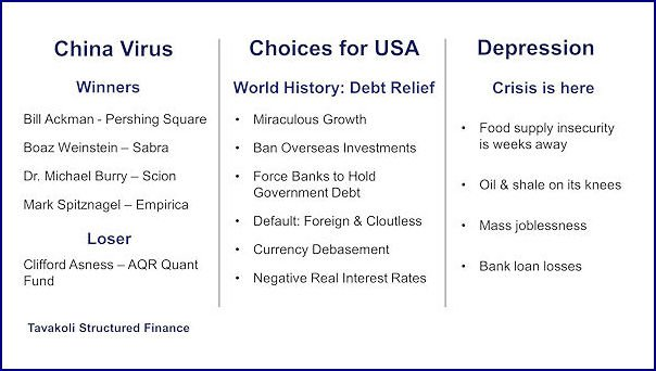 Financial Crisis of 2020 and Choices